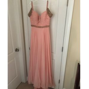 Sherri Hill 50086 Blush Pale Pink Prom Dress